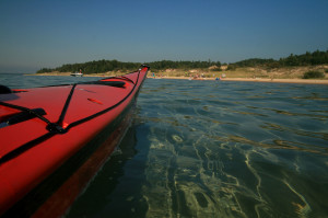 kayak at beach